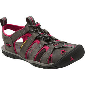 Keen Clearwater CNX Leather Sandalias Mujer, gris/rosa